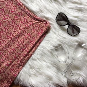 Ann Taylor Mosaic Print Matte Jersey Skirt